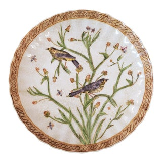20th Century Traditional Birds and Butterflies Decorative China Plate