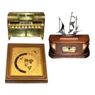 Art Deco Novelty Clocks - Set of 3