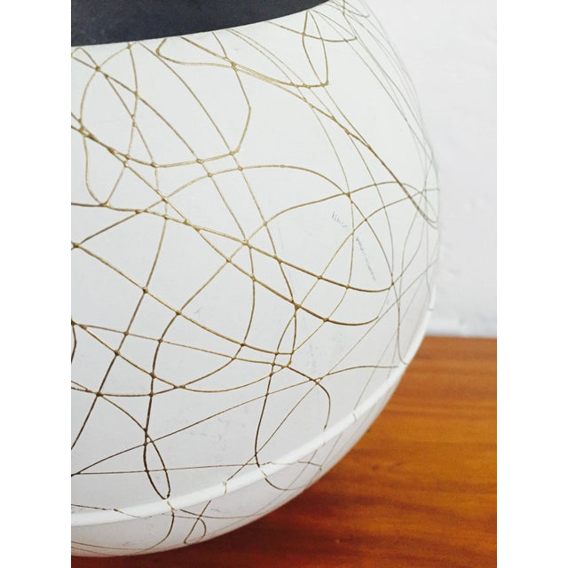 Mid Century Gold Squiggle Orb Lamp - Image 4 of 7