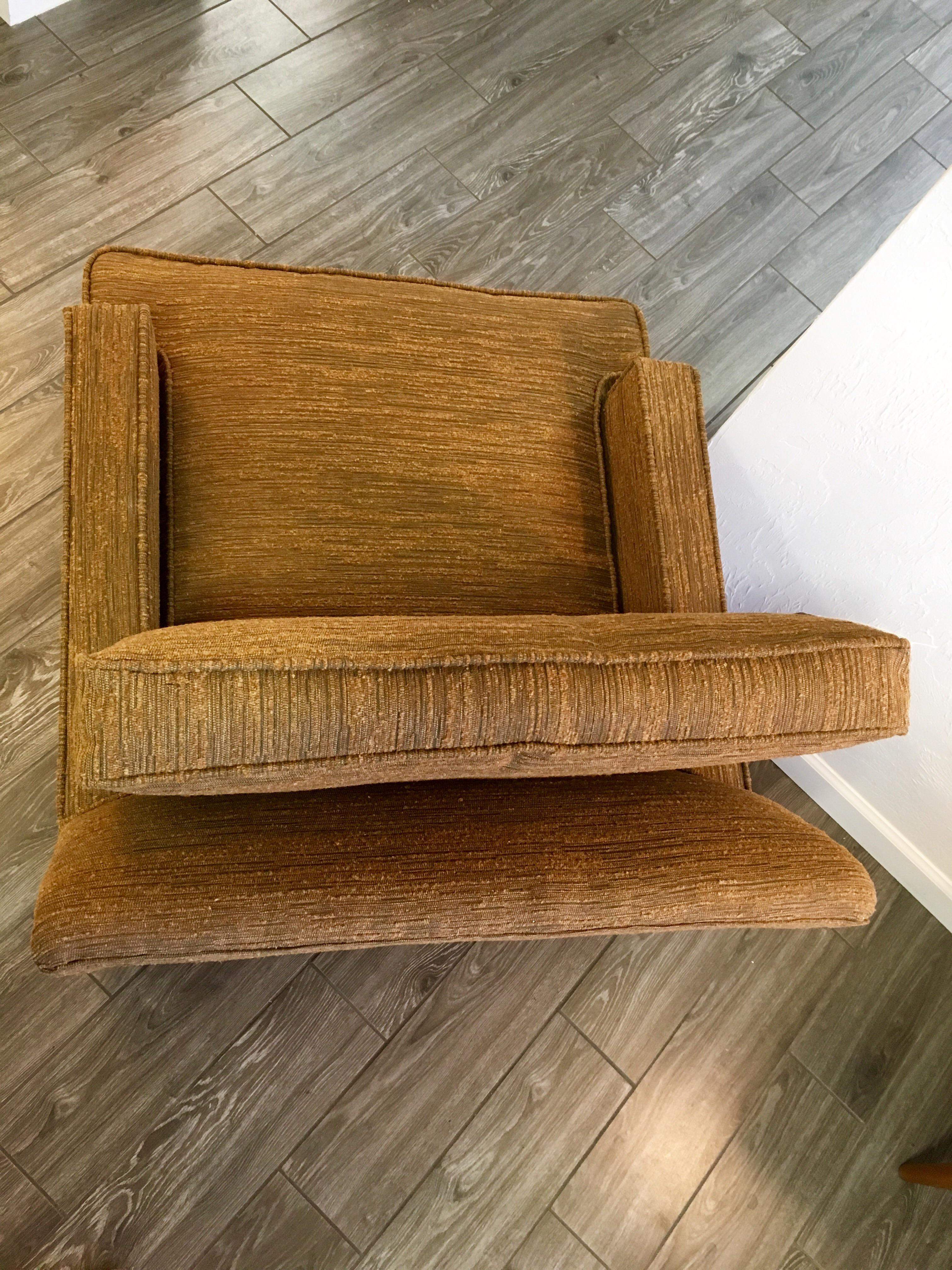 Mid Century Danish Selig Monroe Lounge Chairs A Pair