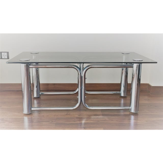 Mid-Century Modern Chrome Coffee Table - Image 3 of 11