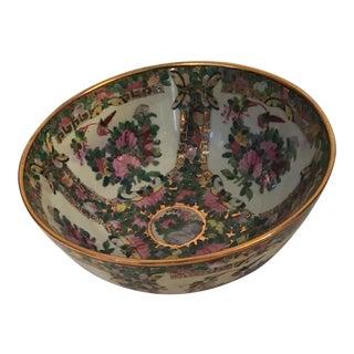 Vintage 14k Gold Rim Chinese Bowl