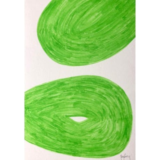 Modern Green Abstract Painting by Tony Curry For Sale
