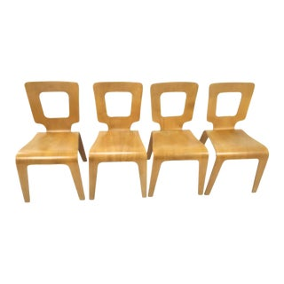 Thaden Jordan Bent Plywood Dining Chairs - Set of 4 For Sale
