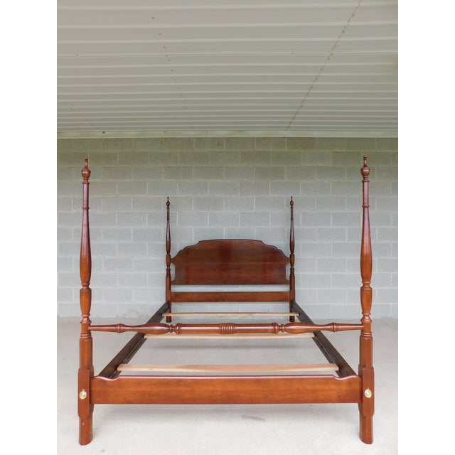 L Hitchcock Cherry Queen Size Poster Bed For Sale - Image 11 of 11