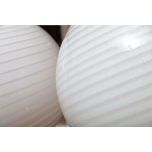 Extra Large Vetri Murano Glass & Lucite Globe Table Lamps - a Pair For Sale In Miami - Image 6 of 9