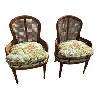 Therodore Alexander Cain Back Carved Chairs - a Pair For Sale