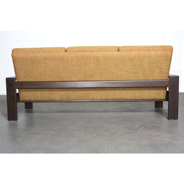 Wenge Modern 1970's Three-Seater Sofa - Image 6 of 11