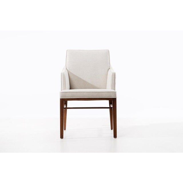 Lacquer Edward Wormley Set of Six Dining Chairs For Sale - Image 7 of 13
