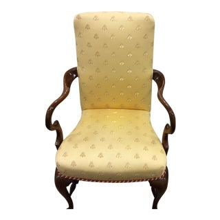 Chippendale Style Walnut Chair For Sale