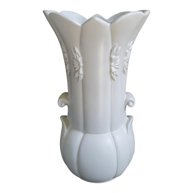 Abingdon Art Deco Style Off White Vase For Sale