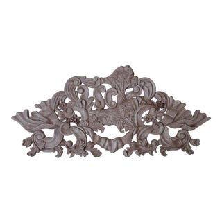 Vintage Carved Wood French Architectural Salvage Element For Sale