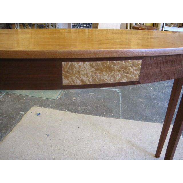 Richard Oedel Lakewood Mahogany Top Demi Lune Console For Sale - Image 4 of 5