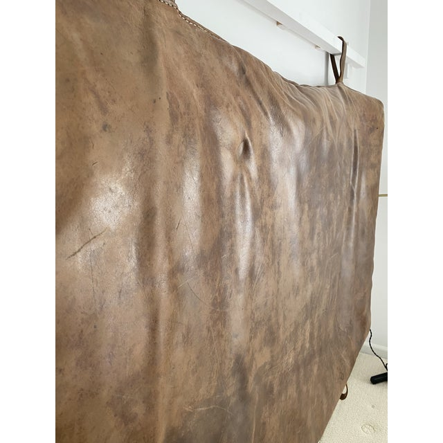 1930s Leather Gym Mattress Czech, 1930 For Sale - Image 5 of 11