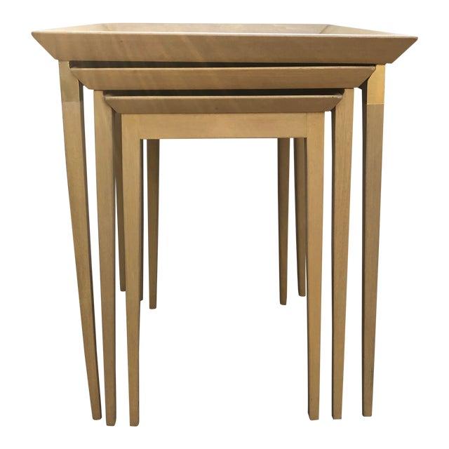 1950s Robsjohn-Gibbings for Widdicomb Stacking Side Tables - Set of 3 For Sale