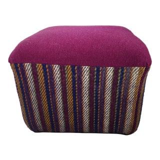 Magenta Wool Ottoman - Set of 2