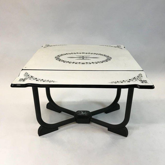 1930s Art Deco Metal Folding Dining Table For Sale - Image 4 of 9