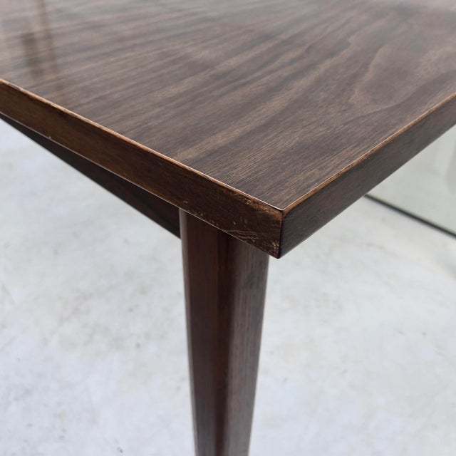 Mid-Century Modern Dining Table With Leaf For Sale In New York - Image 6 of 11