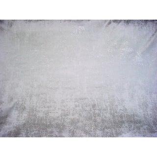 Scalamandre Tesoro Printed Embossed Velvet Moonbeam Upholstery Fabric - 2 Yards For Sale
