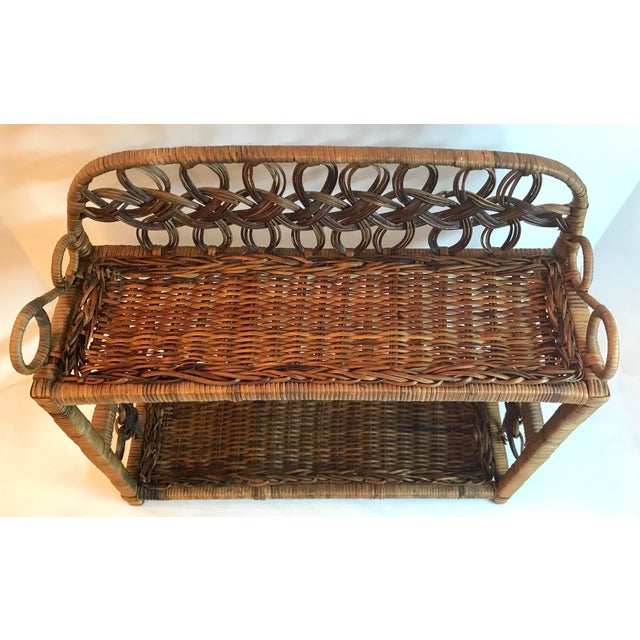 Vintage Wicker Hanging Shelf For Sale In Dallas - Image 6 of 8