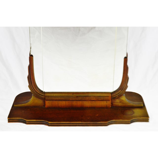 Art Deco Table Top Vanity Shaving Mirror For Sale - Image 9 of 13