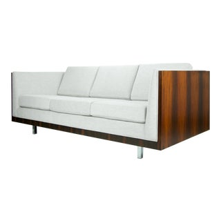 1960s Mid-Century Modern Milo Baughman for Thayer Coggin Rosewood Case Sofa For Sale