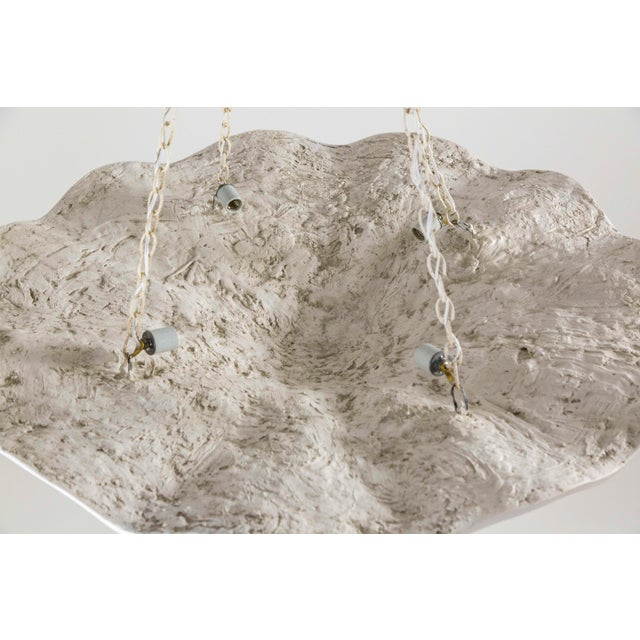 Paint Mammoth White Plaster Shell Pendant For Sale - Image 7 of 9