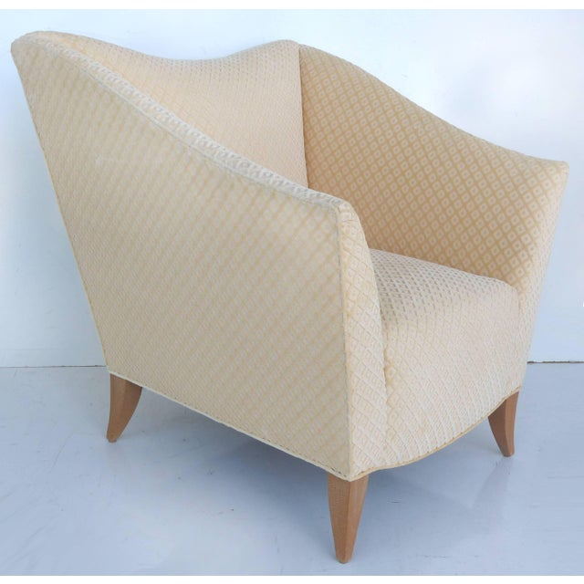 Contemporary Sculptural Upholstered Club Chairs Attributed to Donghia - a Pair For Sale - Image 3 of 11