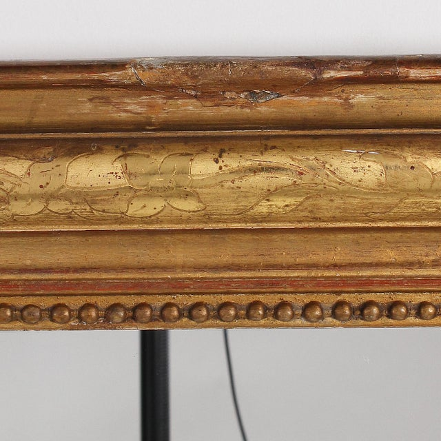 19th Century French Louis Philippe Gilt Mirror With Floral Design For Sale - Image 10 of 11
