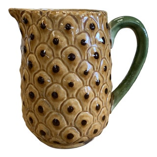 Pottery Pineapple Pitcher For Sale