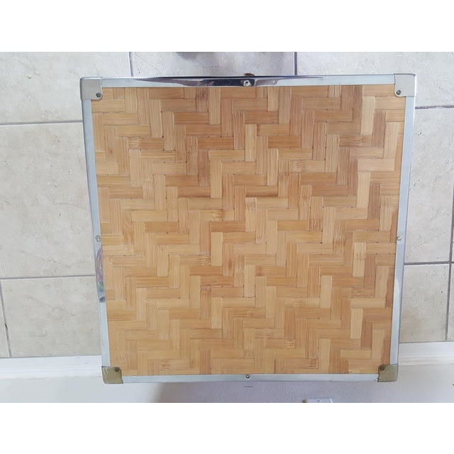 1970s Chinoiserie Woven Bamboo Storage Trunk For Sale - Image 11 of 13