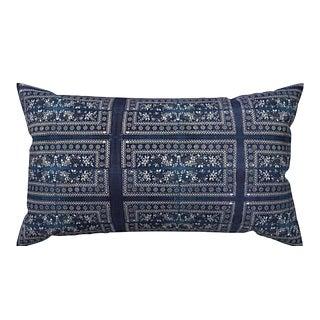 Chinese Batik Indigo Pillow Cover 12x18 For Sale