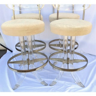 Vintage 1970's Hill Manufacturing Acrylic Bar Stools - Set of 4 Preview