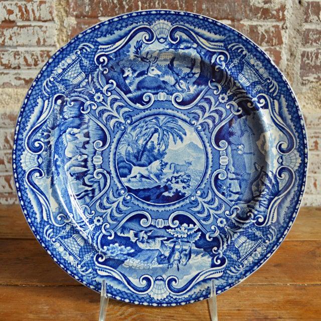Quadrupeds Transferware Plate, John Hall Staffordshire - Image 2 of 10