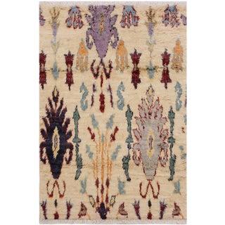 Moroccan Street Wool Rug - 4′ × 6′ For Sale