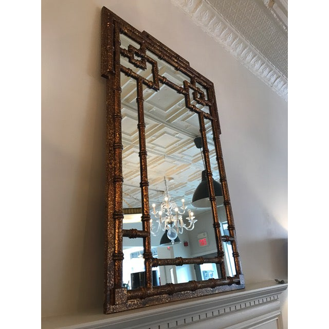 Chinoiserie Faux Tortoise Mirror - Image 2 of 5