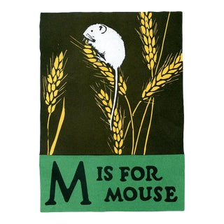 M Is for Mouse, 1920s Lithograph, Children's ABCs For Sale