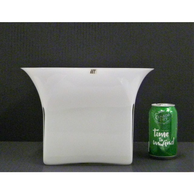 1960s Vintage Sergio Asti for Venini, Murano Mid Century Modern Cased White Glass Vessel For Sale - Image 12 of 13