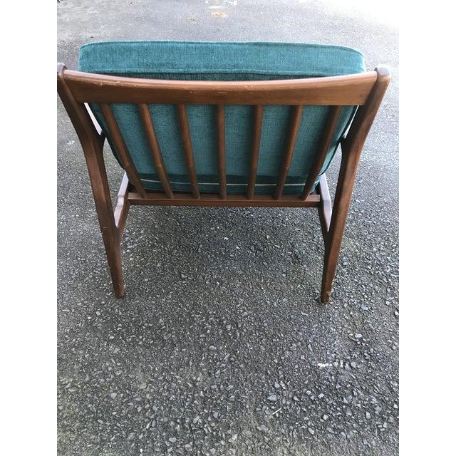 Selig 1960s Mid Century Modern Ib Kofod Larsen for Selig Teak Lounge Chair For Sale - Image 4 of 10
