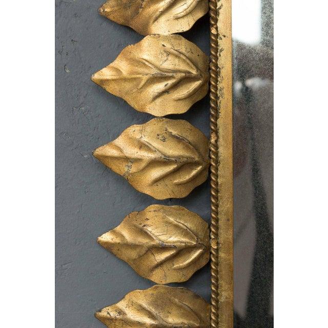 1950s Rectangular Gilt Metal Sunburst Mirror For Sale - Image 5 of 9