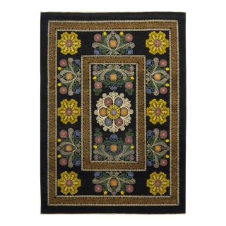 Patterned & Floral Handmade Area Rug - 9 X 12 For Sale