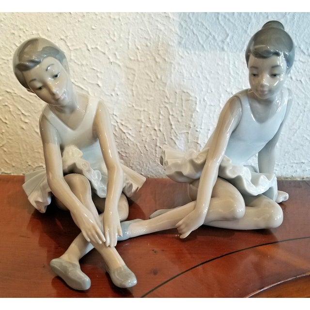 Pair of Spanish Porcelain Ballet Dancers by Nao For Sale - Image 4 of 9