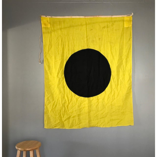 This large vintage cotton flag is in great condition. The black and yellow colors are still bright and have that great...