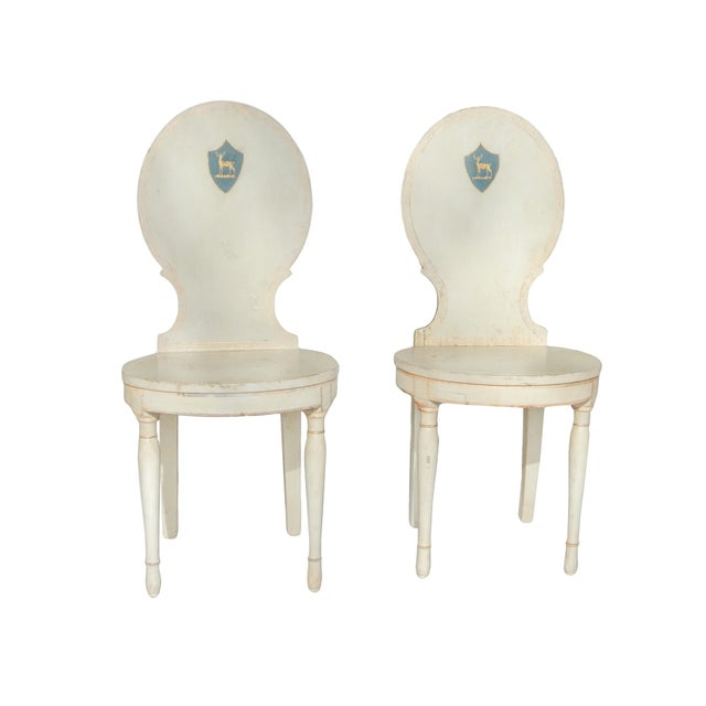 Unusual Pair of Swedish Gustavian Side Chairs - Image 10 of 10
