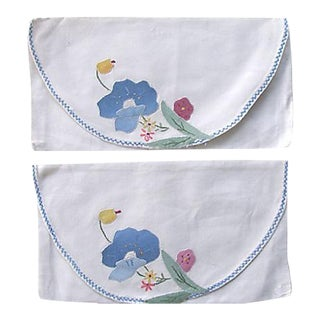 Appliqued Lingerie Envelopes - A Pair