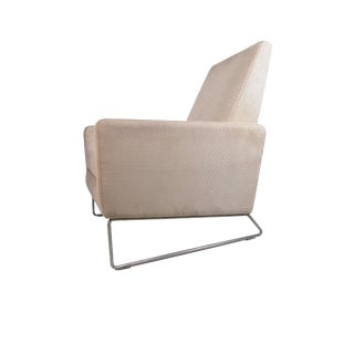 Original Flight Recliner by Ted Boerner for Dwr American Leather Suede For Sale