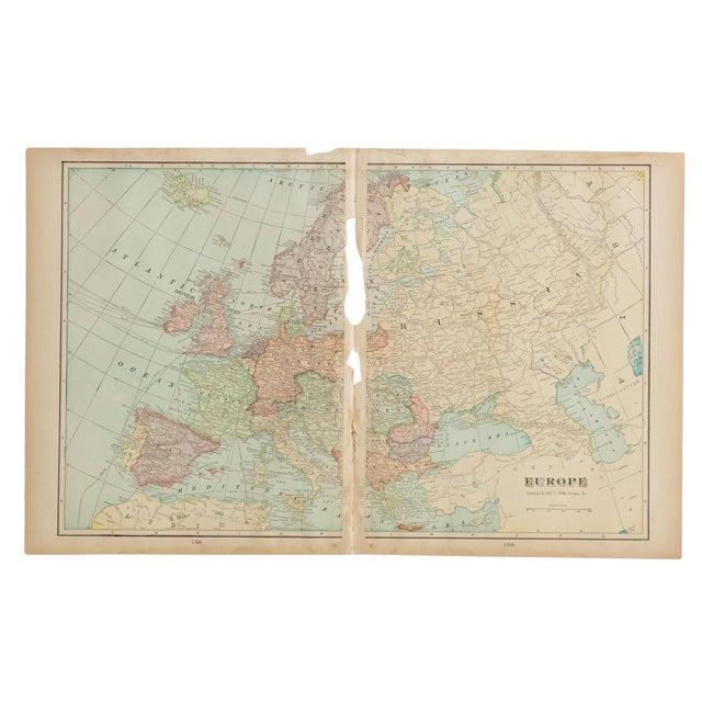 Cram's 1907 Map of Europe on