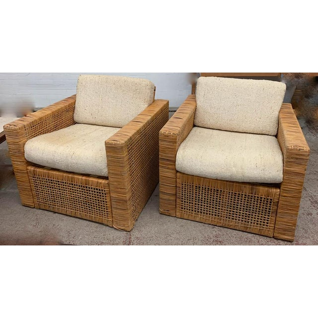 Pair, Mid Century Cube Chairs For Sale - Image 4 of 9