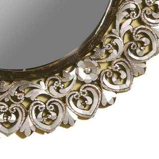 Modern Round Handcut Glass Mirror Preview