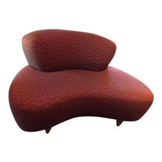 Modern Sina Pearson Fabric Loveseat For Sale